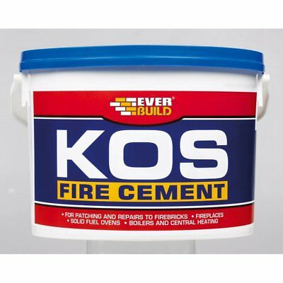 Everbuild Kos Black Fire Stove Brick Stone Heat Resistant Cement Adhesive 500G