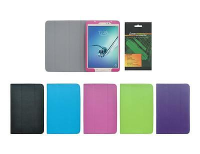 """Folio Skin Cover Case and Screen Protector for Samsung Galaxy Tab S2 8"""" SM-T710"""