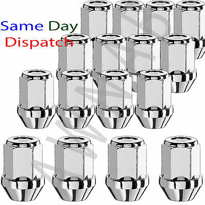 Set of 16 x M12 x 1.5, 19mm Hex, Taper alloy wheel nuts lugs bolts for Volvo