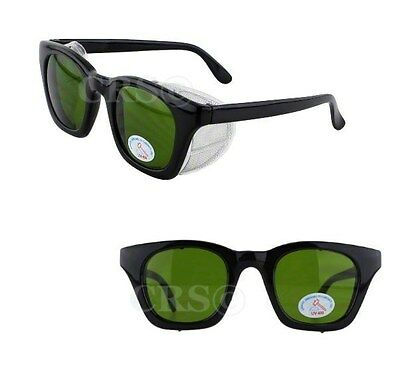 Retro Style Safety Welding Glasses Goggles Metal Mesh Side Shields Z87+ Ansi #3
