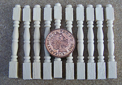 1:12 Scale 12 Tumdee Dolls House Bannister Table Wood Spindles DIY Accessory 601