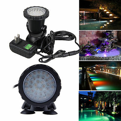 36 LED Submersible Underwater Spot Light for Garden Pond Pool Fish Tank IP68