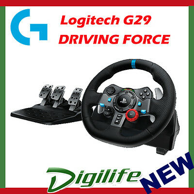 Logitech G29 DRIVING FORCE RACING WHEEL for PS3 PS4 PC