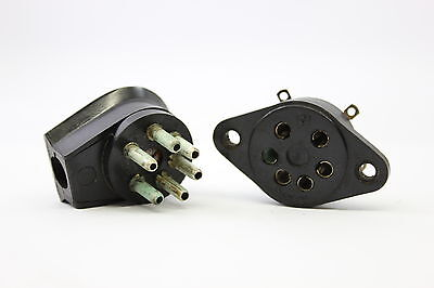 6 Pins Socket Baquelite High Quality For Speakers Connections Conexion Altavoces