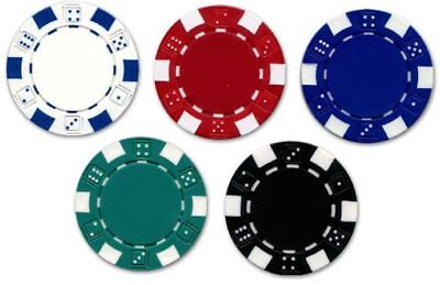 2 x Poker Chip Golf Ball Marker Casino Style Available in 5 Colours