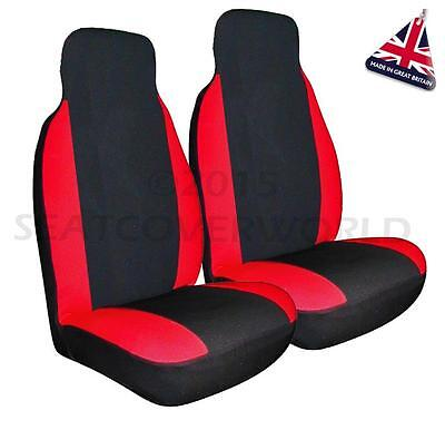 FORD TRANSIT CONNECT -Premium Red & Black Seat Covers/Protectors 2 x Fronts