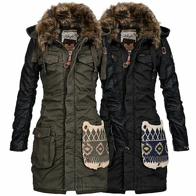 khujo damen parka chantal mix damenparka damenjacke mantel. Black Bedroom Furniture Sets. Home Design Ideas