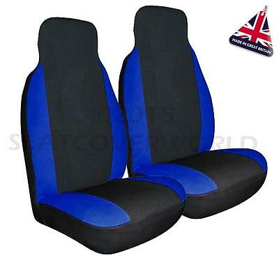 VW CADDY -   Premium Blue & Black Seat Covers/Protectors - 2 x Fronts