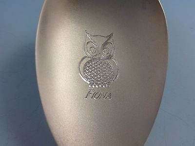 Sterling Silver Owl Teaspoon Spoon Personalized Name  Your Choice  Birthday Gift
