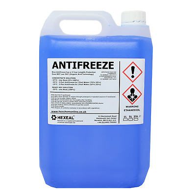BLUE ANTIFREEZE & COOLANT | 5 LITRE | -37 ºC | High Concentrate/Longlife | 5L