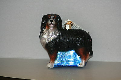 Bernese Mountain Dog  Old World Christmas glass ornament