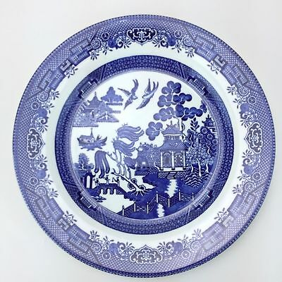 Churchill Blue Willow Pattern Dinner Plate Made In England