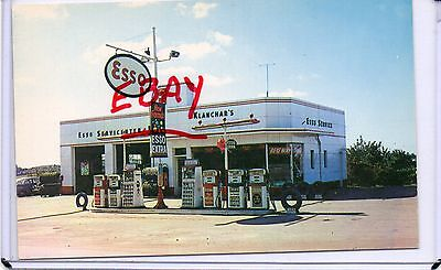 Vintage Gas Station,klanchar's Esso Service,lincoln Highway Rt 30-Irwin,pa