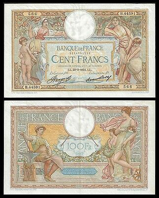 France 100 Francs MERSON 29.3.1934 P 78c VF+