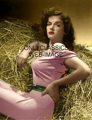 1943 Sexy Girl Jane Russell The Outlaw Color Photo Print Cheesecake Busty Pinup
