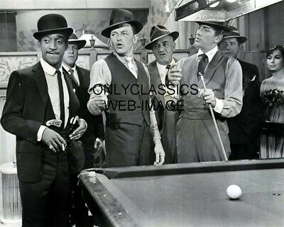 The Rat Pack Frank Sinatra, Sammy Davis, Dean Martin Billiards Pool 8.5X11 Photo
