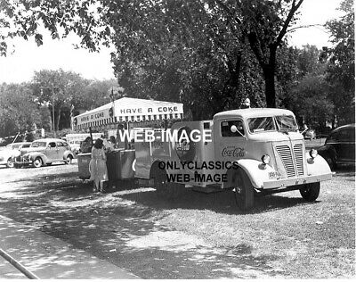 1948 Coca-Cola Soda Delivery Truck Excelsior Amusement Park Mn Photo Americana