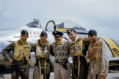 Usaf Jet Pilots Decorated Korean War Photo Military Air Force Aviation Aces