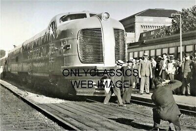 1936 City Of San Francisco Streamliner Train Locomotive Photo Railroad Station