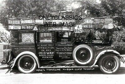 Hale's Traveling Museum Auto Car Photo License Automobilia Roadside Americana