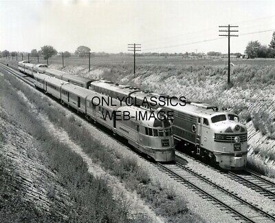 1954 Streamliner Zephyr Locomotives New & Old Railroad Train Photo Brookfield Mo