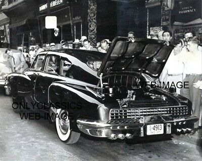 1948 New Tucker Car Rare Street Photo Ohio License Plate Automobilia Auto Dealer
