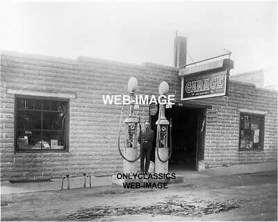 1920 Gas Station Wayne Pump Sign Edina Mn Service Garage Photo Automobilia