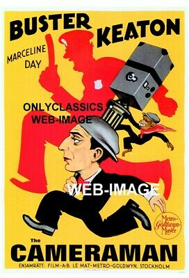 1928 Buster Keaton The Cameraman Police Old Mgm Movie Poster Great Art Graphics!