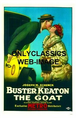 """1921 Buster Keaton In Yellow Taxi """"the Goat"""" Movie Poster  Great Art Graphics"""