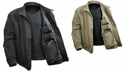3 Season Concealed Carry Tactical Jacket In Black Or Khaki Tan S