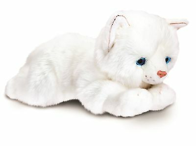 Keel Toys Signature 25cm White Cat / Kitten Cuddly Plush Soft Toy SC1475a