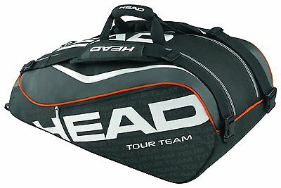 HEAD TOUR TEAM SUPERCOMBI tennis racquet bag -9 rackets - Black