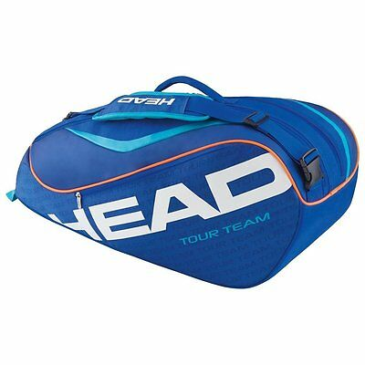 HEAD TOUR TEAM COMBI tennis racquet bag -6 rackets - Blue