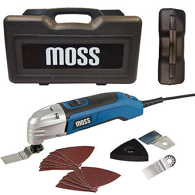 300Watt MOSS S2 Professional Oscillating Multi Tool & Wood Metal Blades, 240V