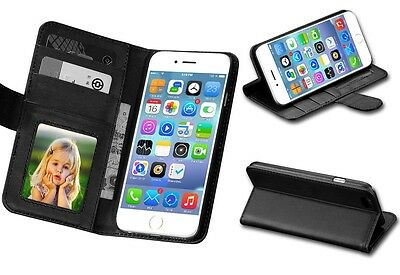 New  Wallet PU Leather Case Cover For Apple iPhone 5S 5 BLACK