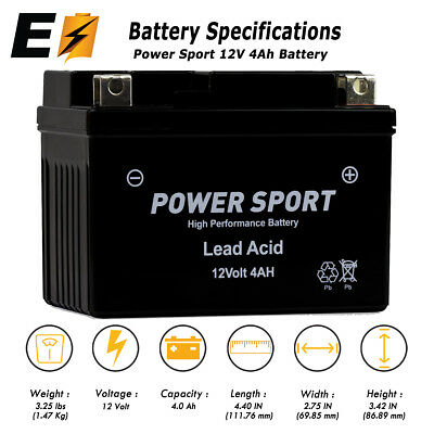 Replacement YTX4L-BS 12V 4Ah Battery for Motorcycle Scooter ATV Batteries