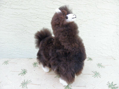New Handmade By Our Artisan In Peru 10 Inches Standing Plush Alpaca #930100