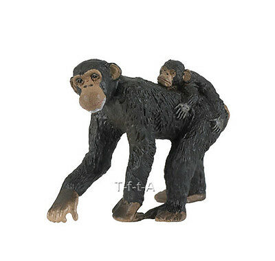 FREE SHIPPING   Papo 50012 Chimpanzee with Baby Figurine Replica- New in Package