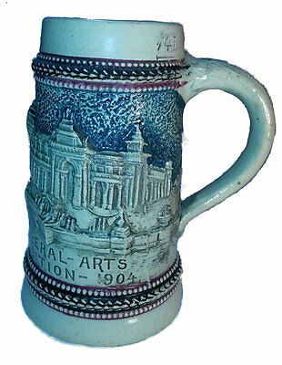 1904 St.Louis Exposition Palace of Liberal Arts Souvenir Stein Germany
