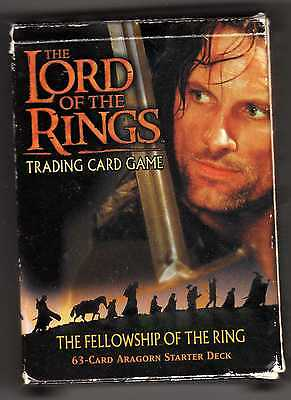 Aragorn starter deck The Lord of the Rings Trading Card Game Fellowship LOTR RPG