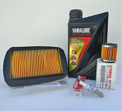 Yamaha MT-125 Service Kit Fully Synthetic Oil, Spark Plug, Air & Oil Filter
