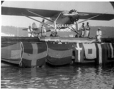 '27 Charles Lindbergh Airplane Aviation-Navy Soldier Guard Barge Transport Photo
