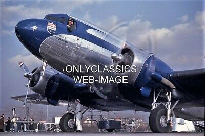 United Airlines Ca Douglas Dc-3A Pilot Out Window 8X12 Photo Airplane Aviation