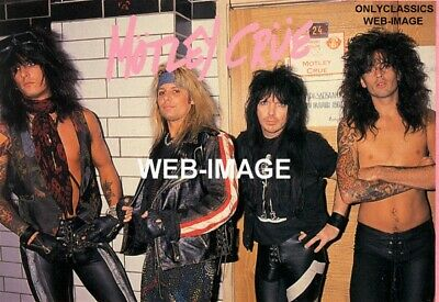 1990 Rockers Motley Crue Band Photo Tommy Lee -Nikki Sixx -Mick Mars -Vince Neil