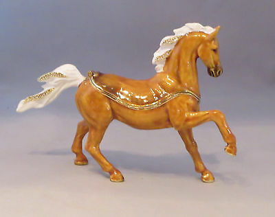 ARABIAN HORSE Trinket Box NEW Brown White Can Hold Jewelry Magnetic Closure