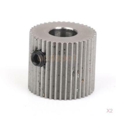 2x Stainless Extruder Drive Gear Pulley 5mm Shaft for 3D Printer1.75mm Filament