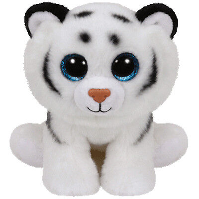 TY Classic Plush - TUNDRA the White Tiger (9.5 inch) - MWMT's Stuffed Animal Toy
