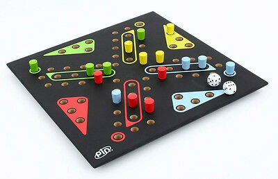 LUDO PIN GAME -Wood 3D Logic Wooden Puzzle Family Board Games GP423C