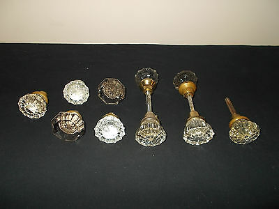 VTG-Antique Glass Door Knobs Lot hardware architectural