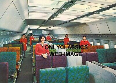 1977 Cathay Pacific Hong Kong Airline Cute Stewardess Photo Airplane Aviation